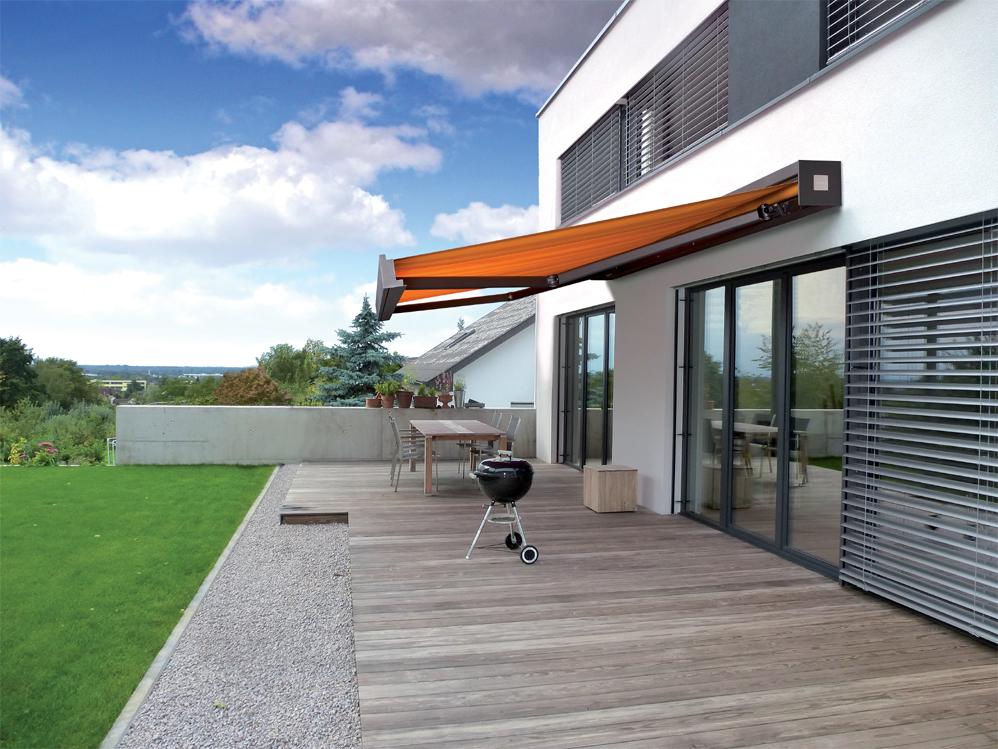Q Markise novetta pq markisen für terrassen und balkone hüppe